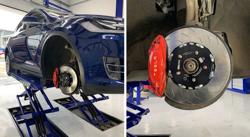 Great Brake Pads for Tesla Cars from EBC Brakes