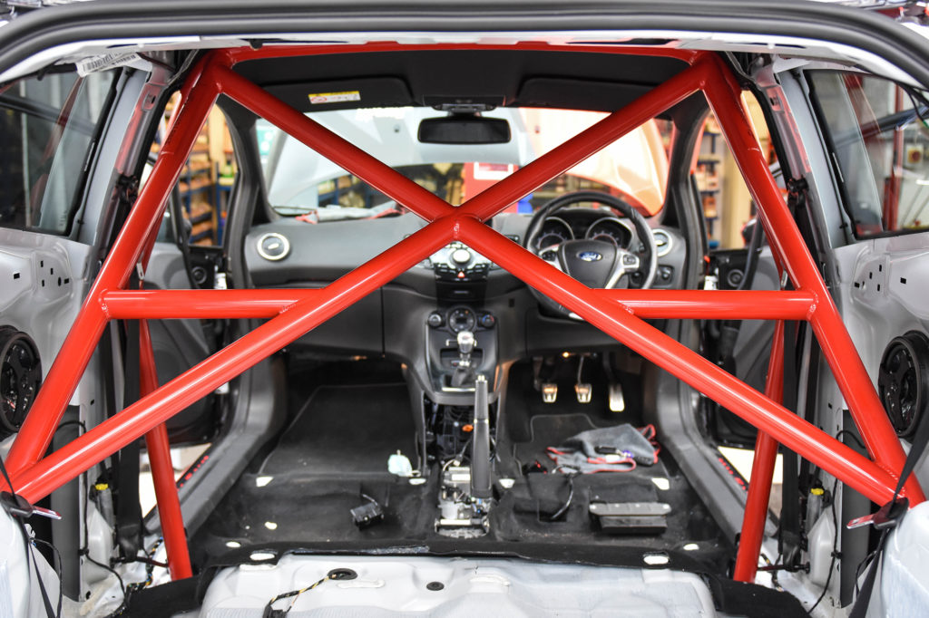 EBC's Ultimate Fiesta Build – Part 13: Caged Laser Roll Cage Install