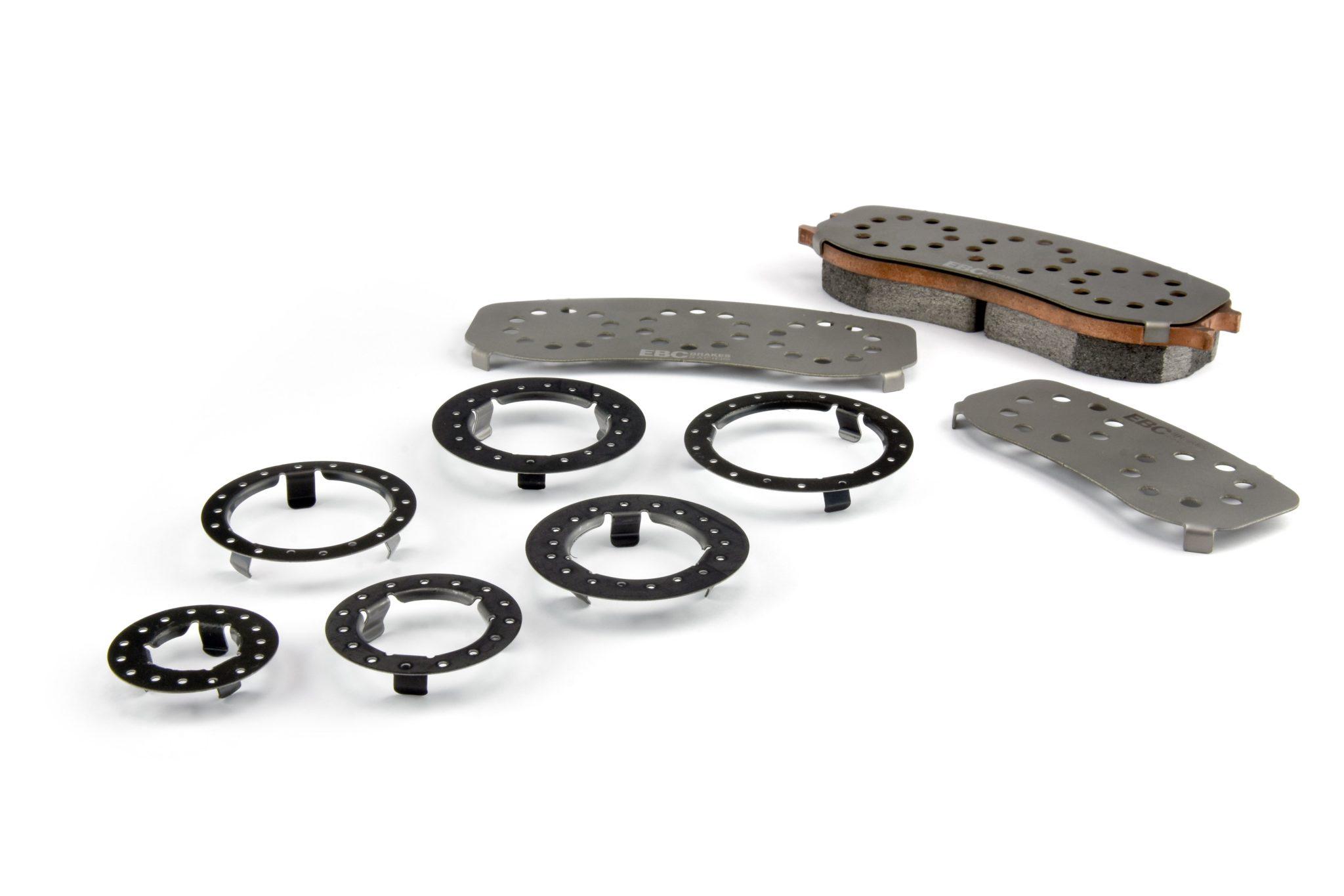 EBC Titanium Brake Pad Shims Can Reduce Caliper Overheat And Seal Damage